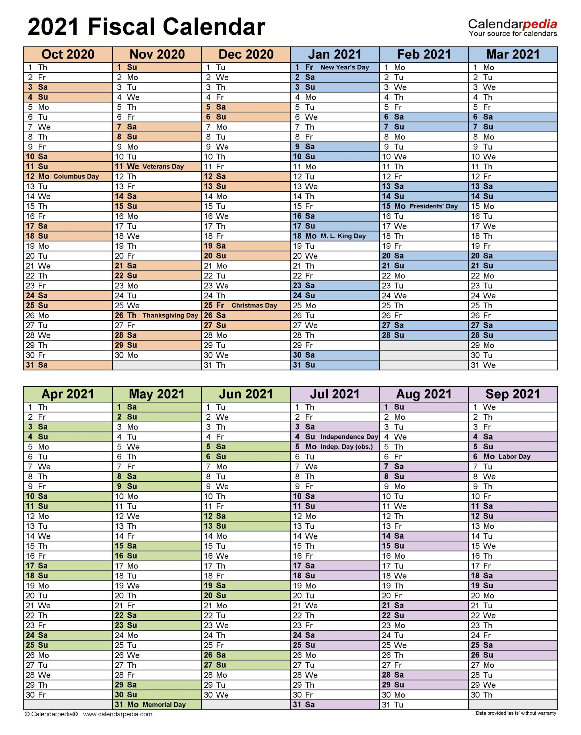 Financial Year Calendar 20212021 In Australia - Template
