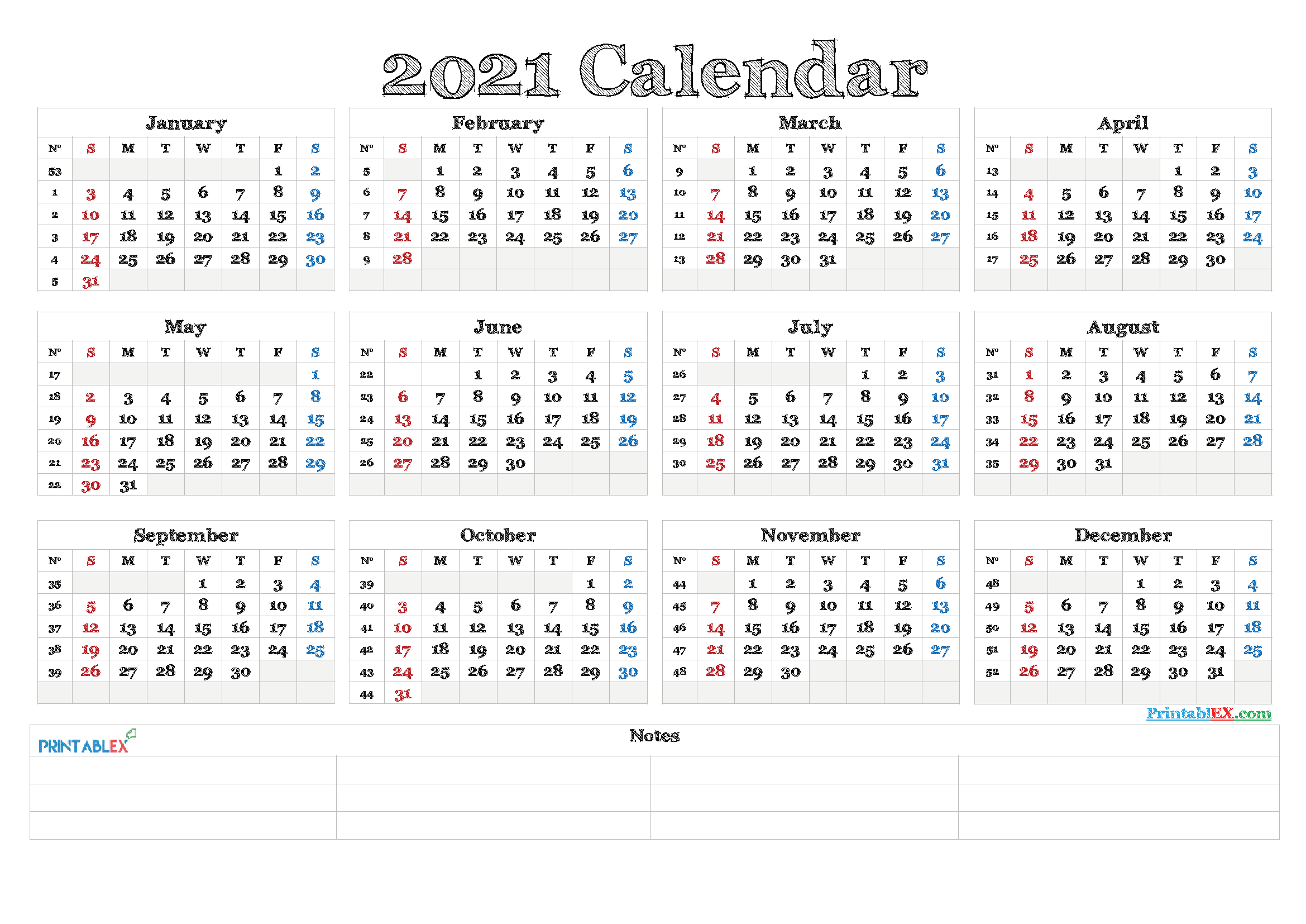 Free 2021 Yearly Calender Template : Calendar In Polish