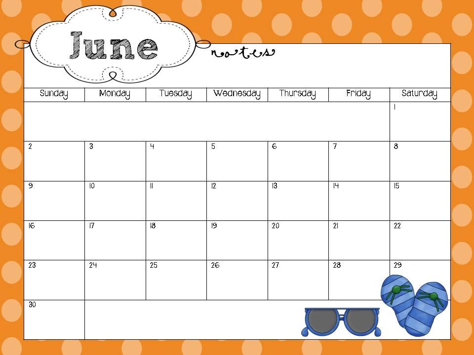 Free Blank Teacher Calendar Templates For Preschool :-Free
