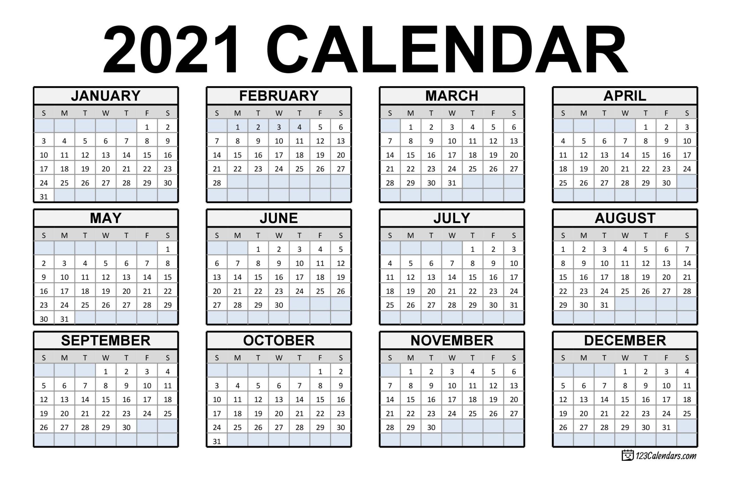 Free Download Canadian 2021 Calendar  2021 Calendar With