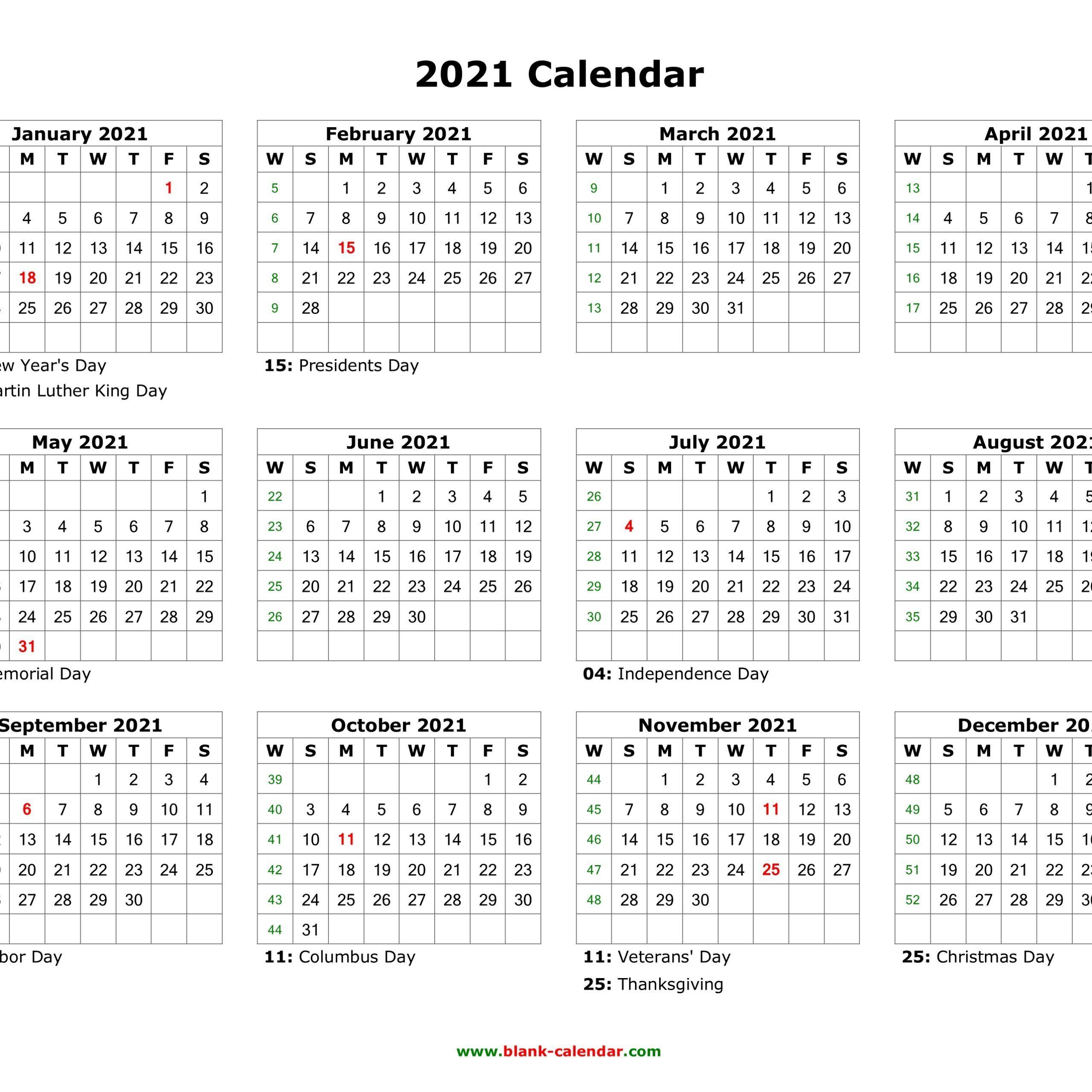 Free Editable Calendar 2021   Calendar Printables Free Blank