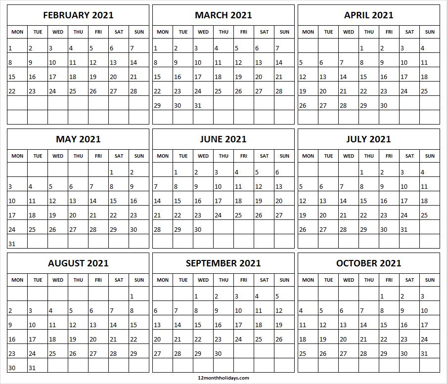 Free Editable Calendar 2021  Editable Printable Calendar