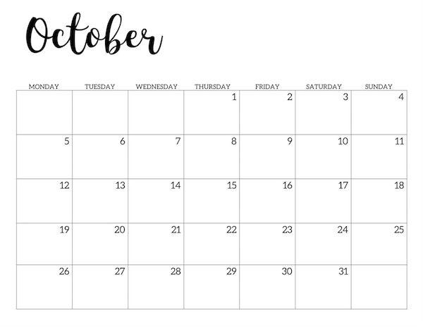 Free Printable 2020 Calendar - Monday Start - Paper Trail