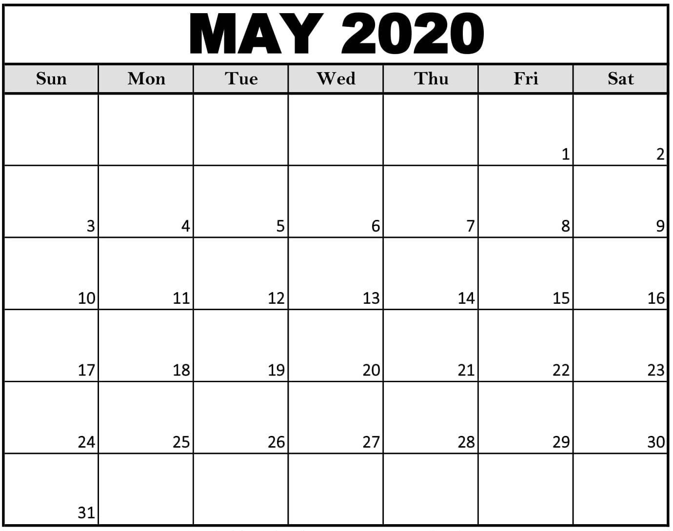 Free Printable Calendar Big Boxes   Month Calendar Printable