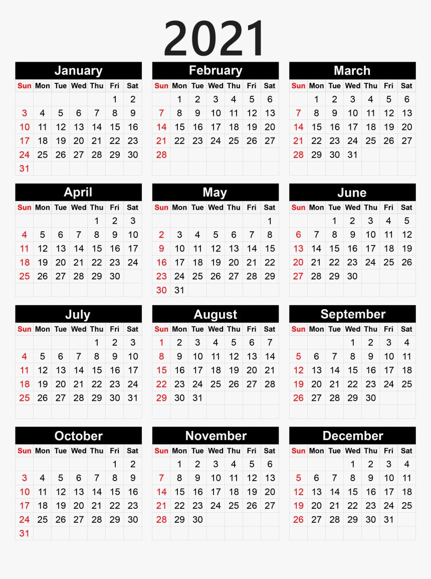 Free Printable Pocket Size Calendar 2021   Free 2021