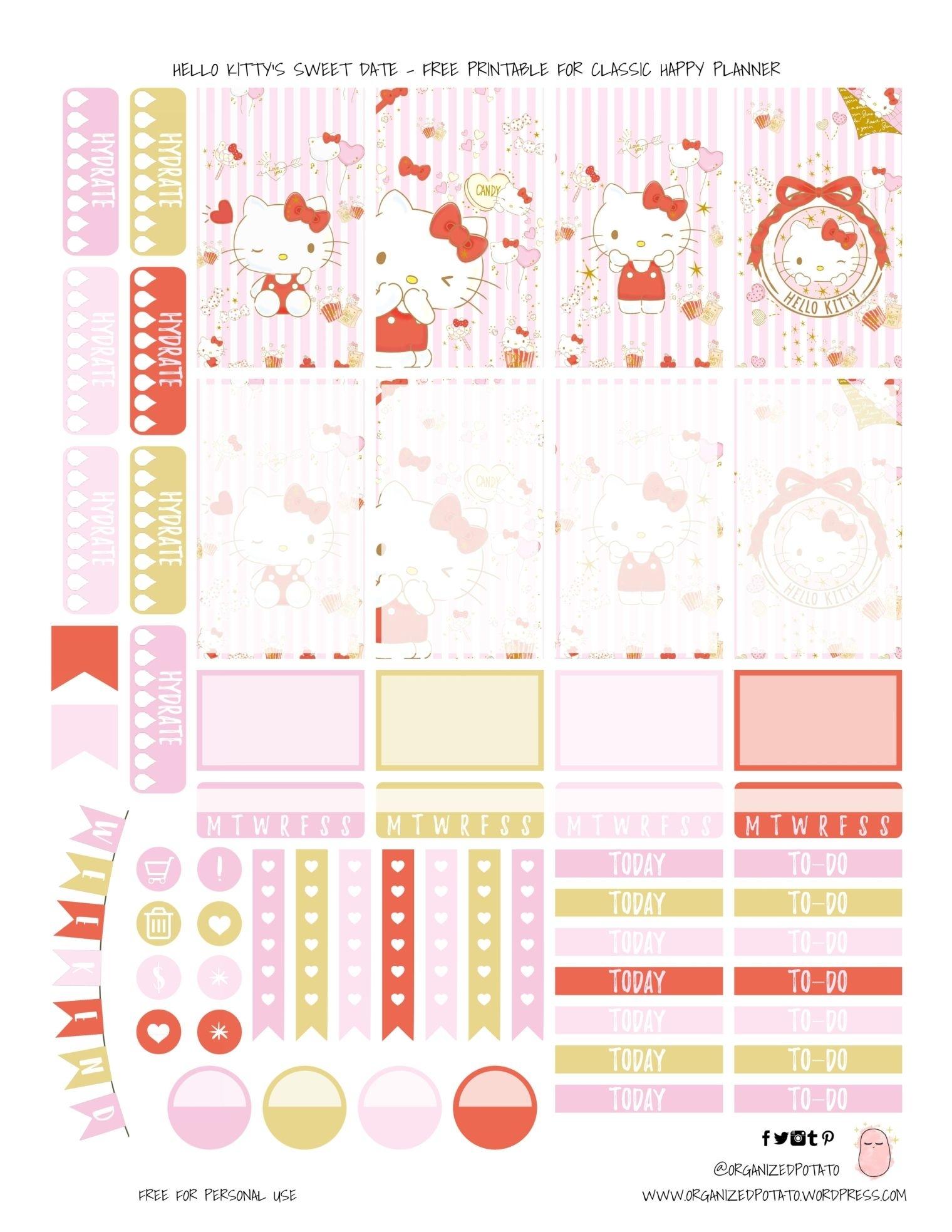 Hello Kitty Calendar Template | Printable Calendar Template 2021