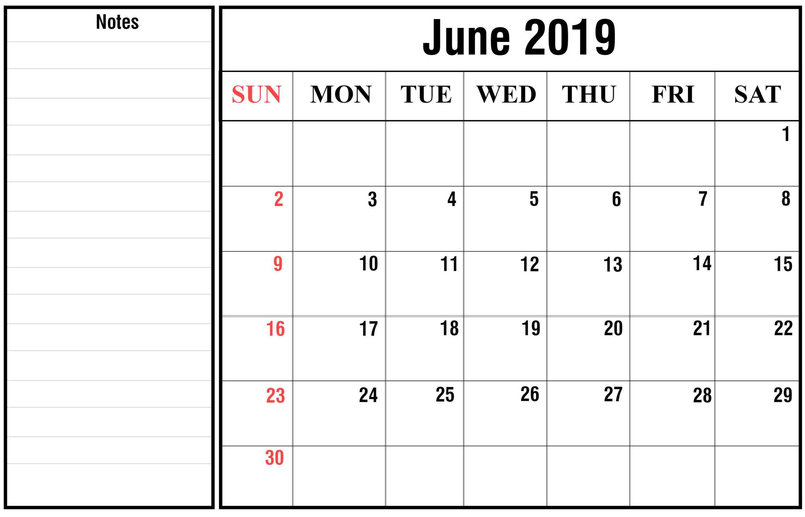 June-2019-3 | Best Printable Calendar
