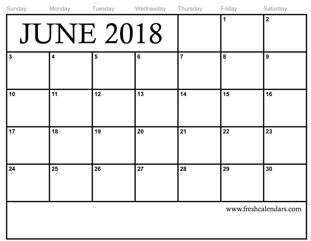 June Calendar Free Printable - Calendar Printable Free