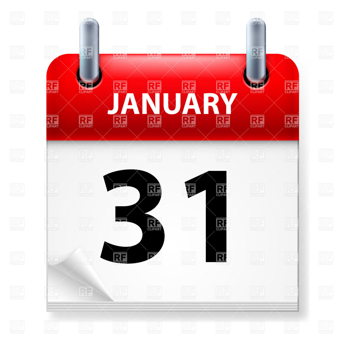 Library Of January 31 Calendar Svg Png Files Clipart Art 2019