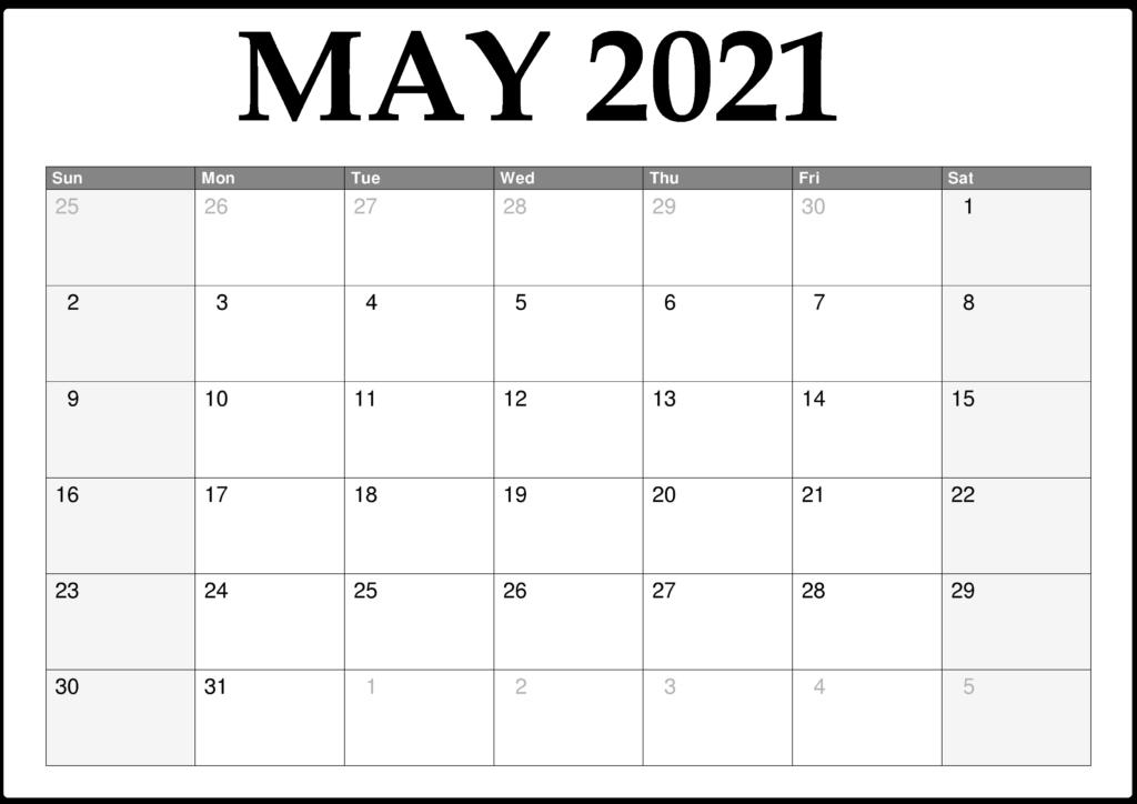 May 2021 Calendar Printable With Pdf - Thecalendarpedia