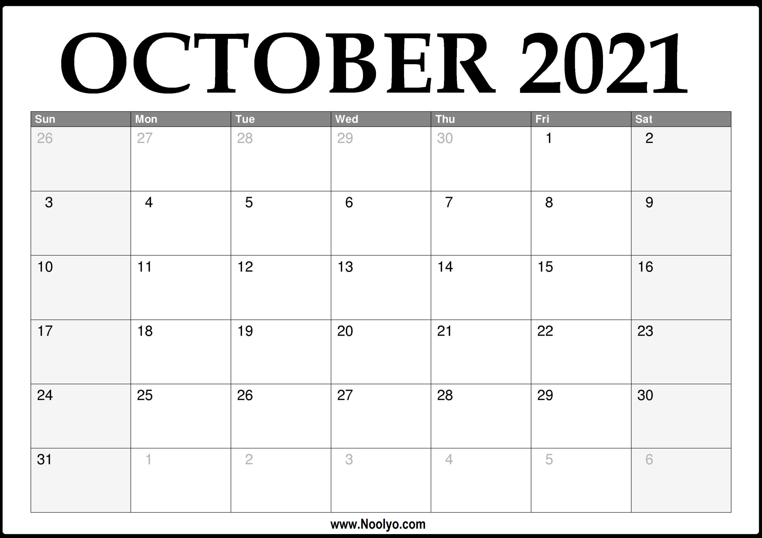 October 2021 Thru December 2021 Calendar | Calendar