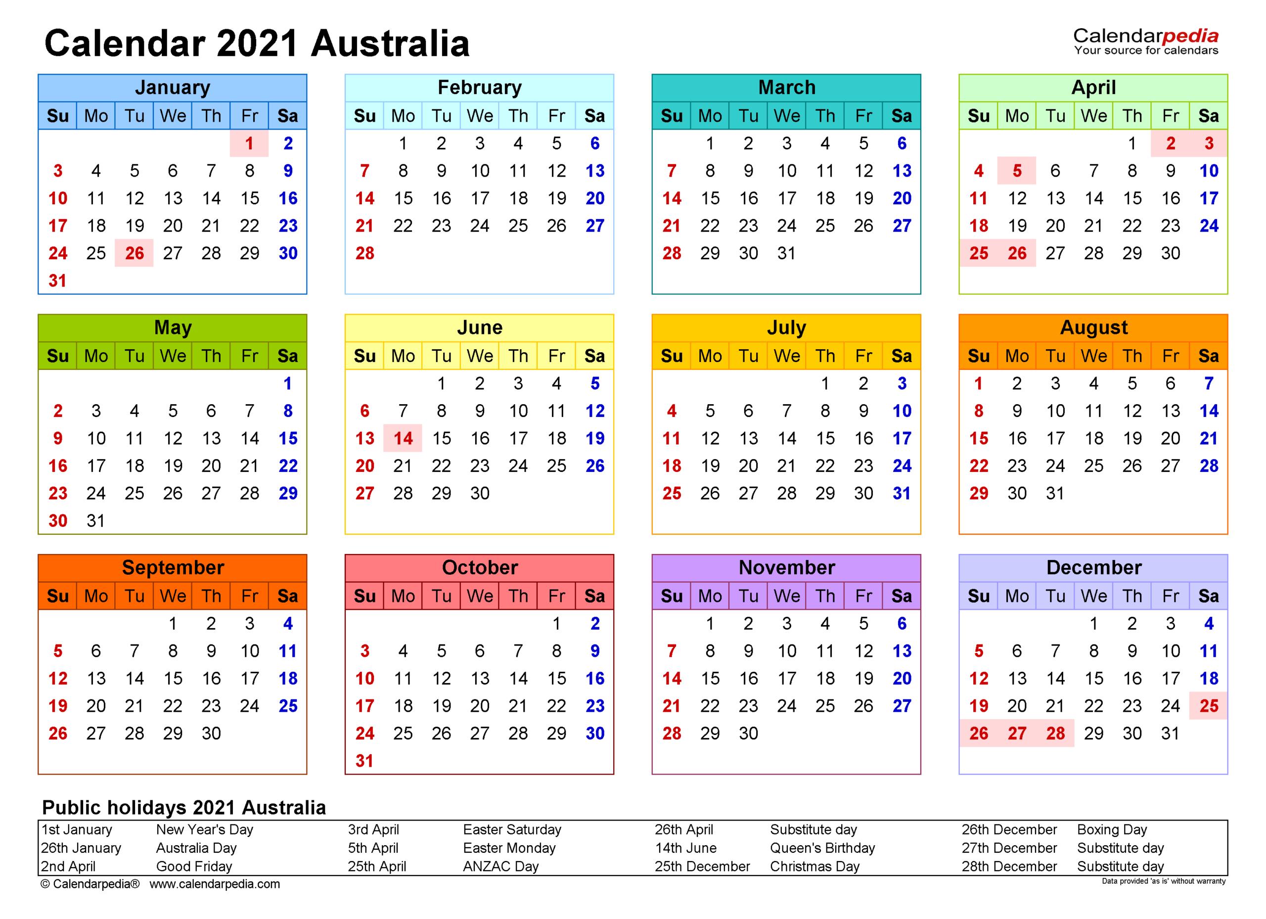 Online 2021 Calendar Template   Calendar Printables Free