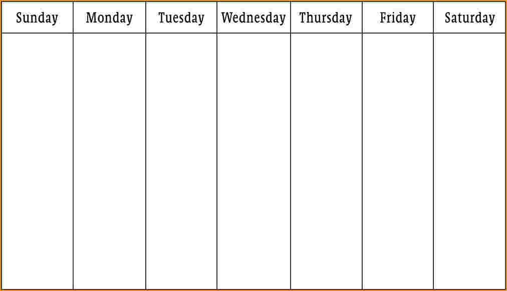 Pintim Kidder On Blank Weekly Calendar | Blank Weekly