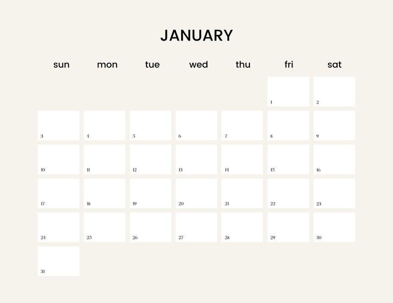 Printable Calendar 2021 Desk Calendar Instant Download Pdf