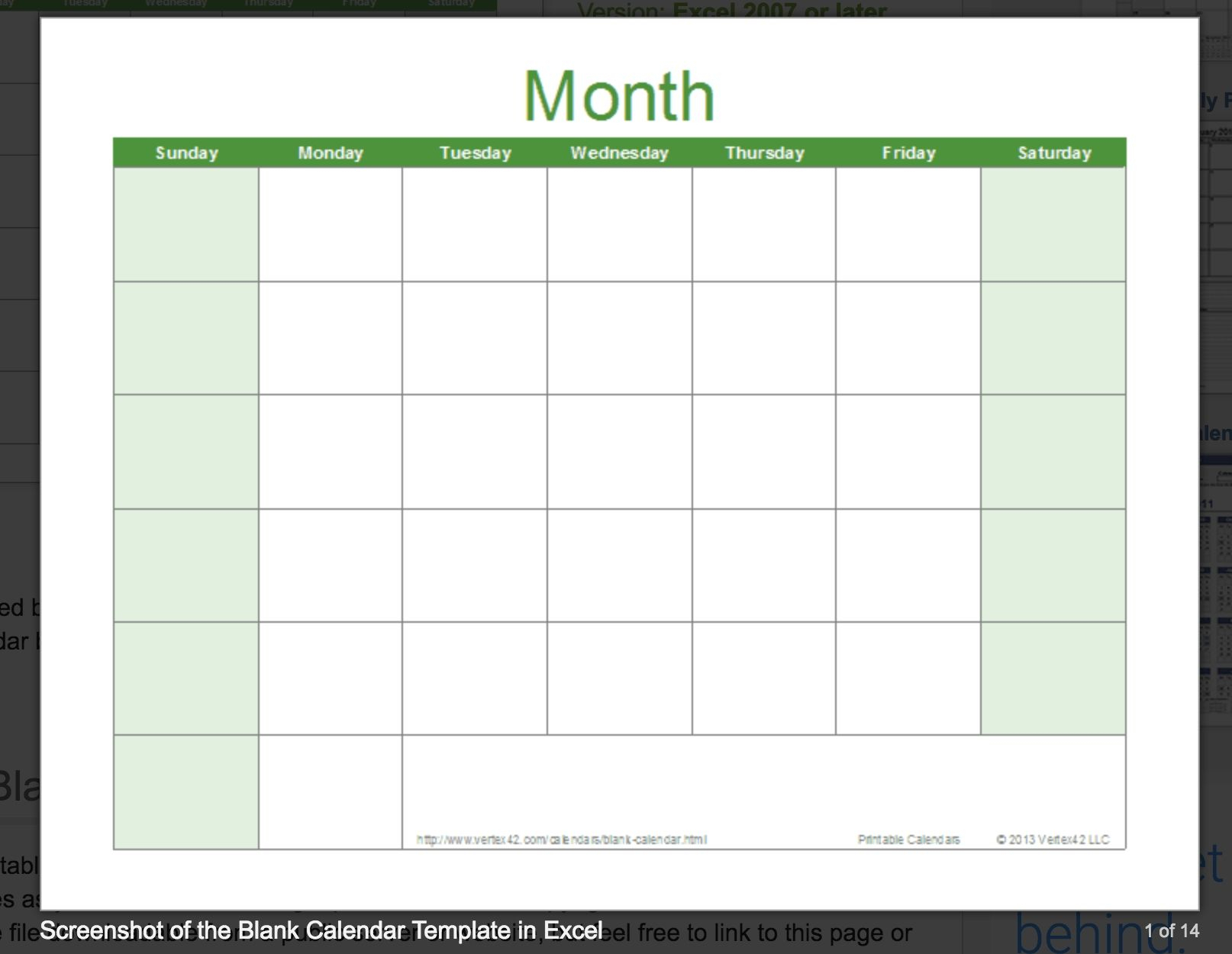 Printable Monthly Calendar You Can Type In | Example