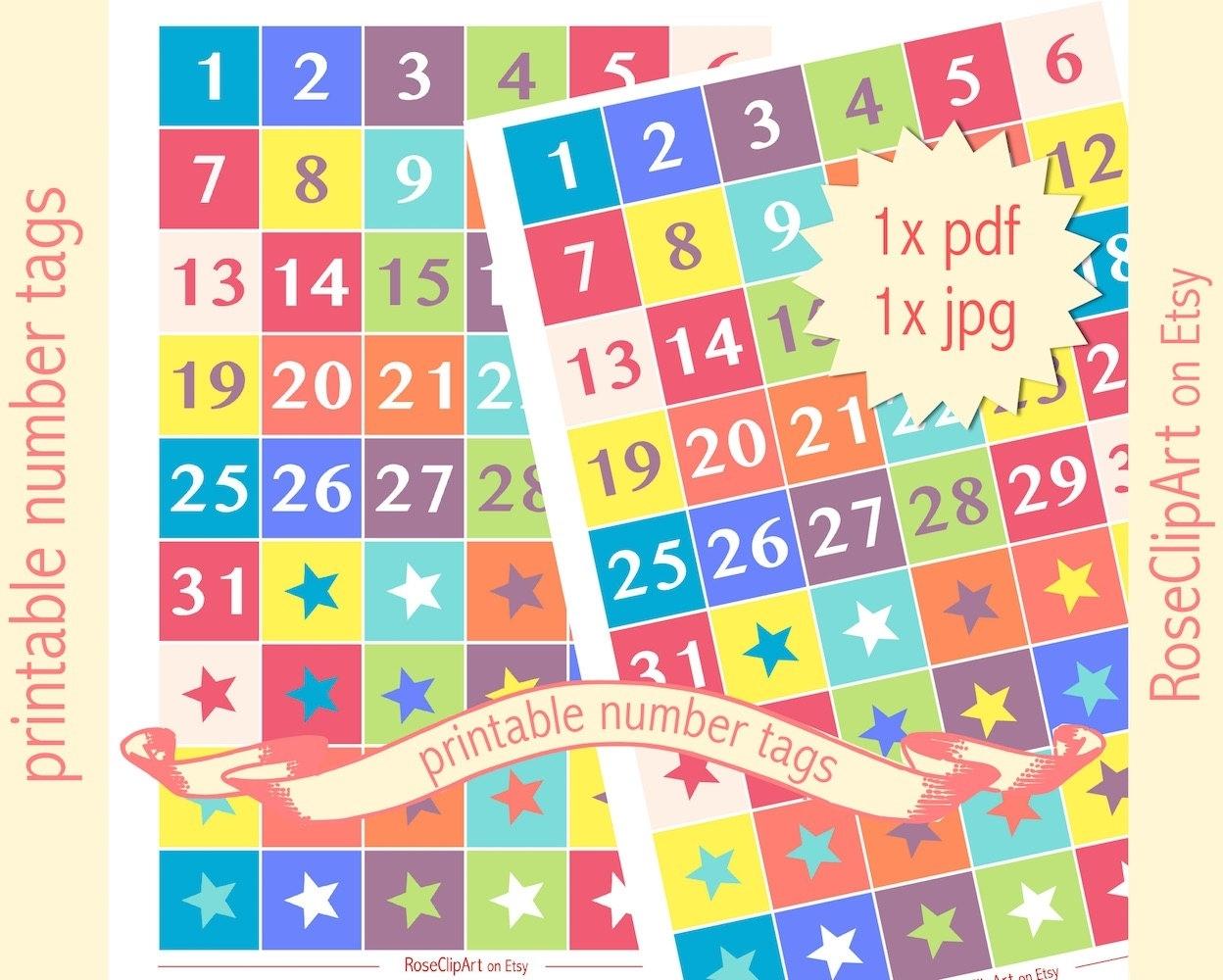 Printable Numbers Up To 31 | Ten Free Printable Calendar
