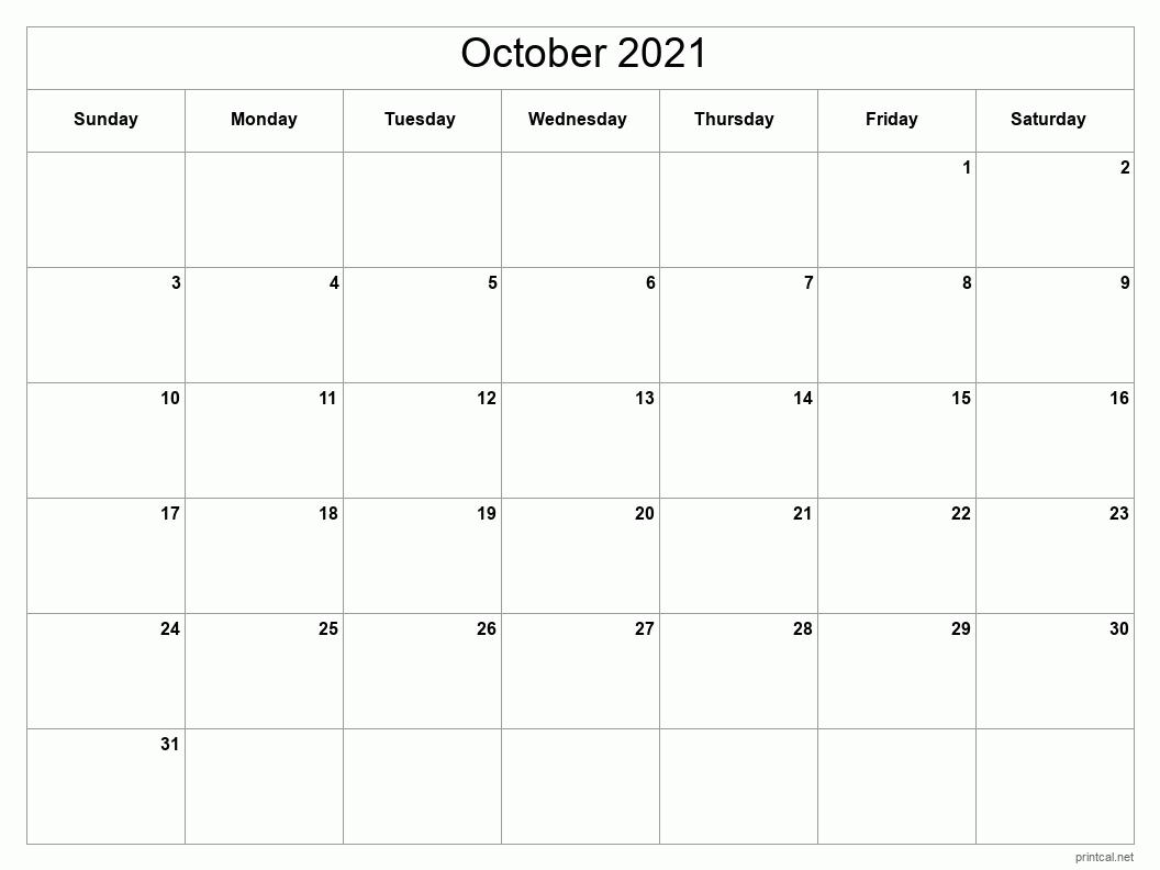 Printable October 2021 Calendar   Free Printable Calendars