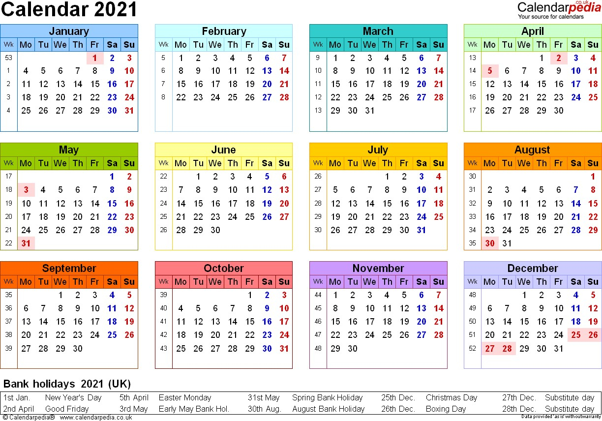 Printable Pdf Calendar 2021 Usa For Scheduling Work   Free