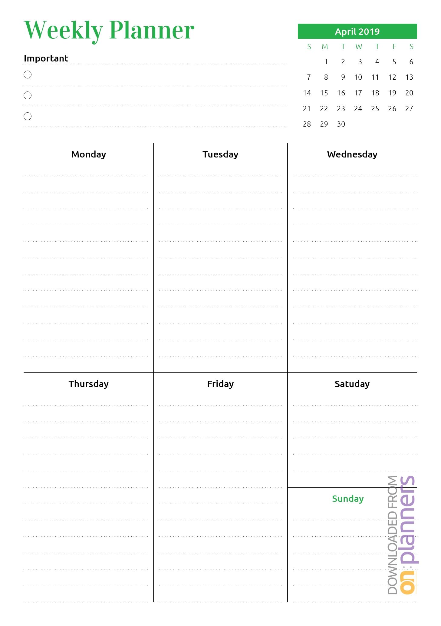 Remarkable 3 Week Blank Calendar Template • Printable
