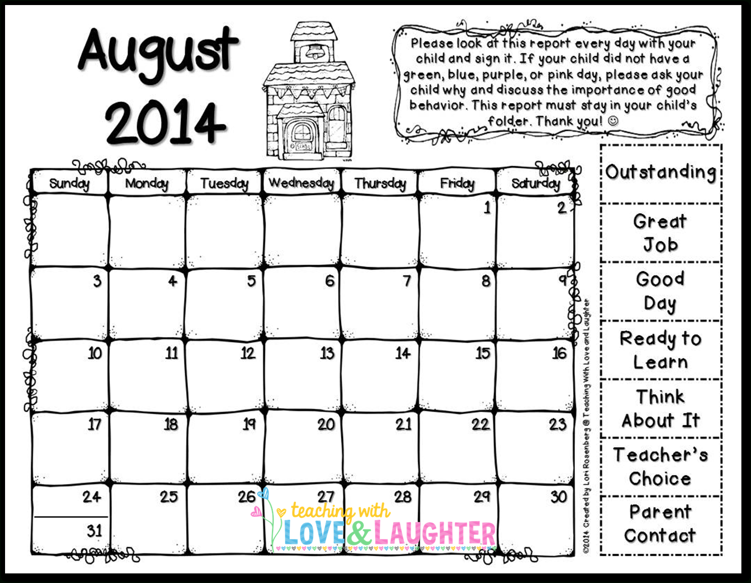 Teaching With Love And Laughter: 2014-2015 Clip Chart