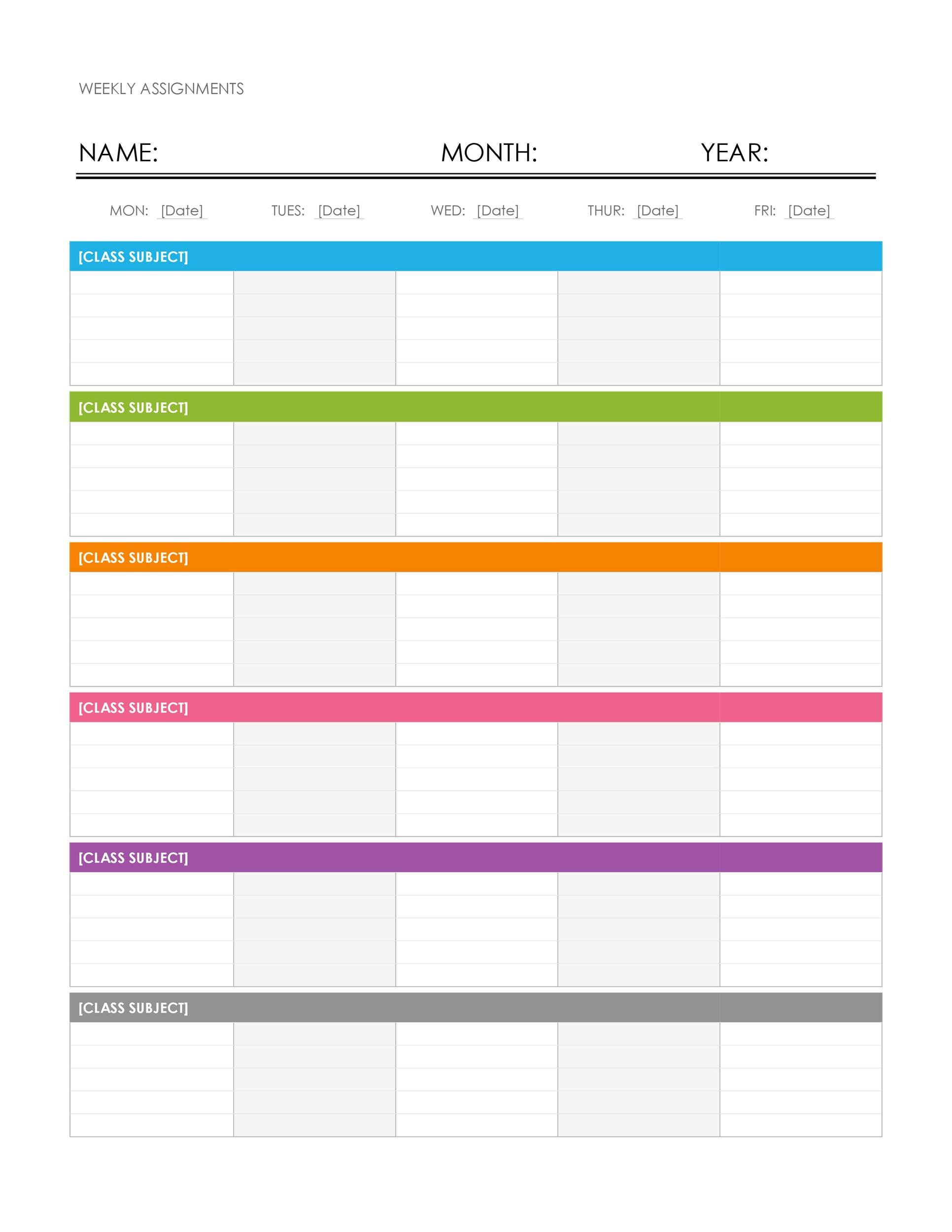 Templet One Week Calender :-Free Calendar Template
