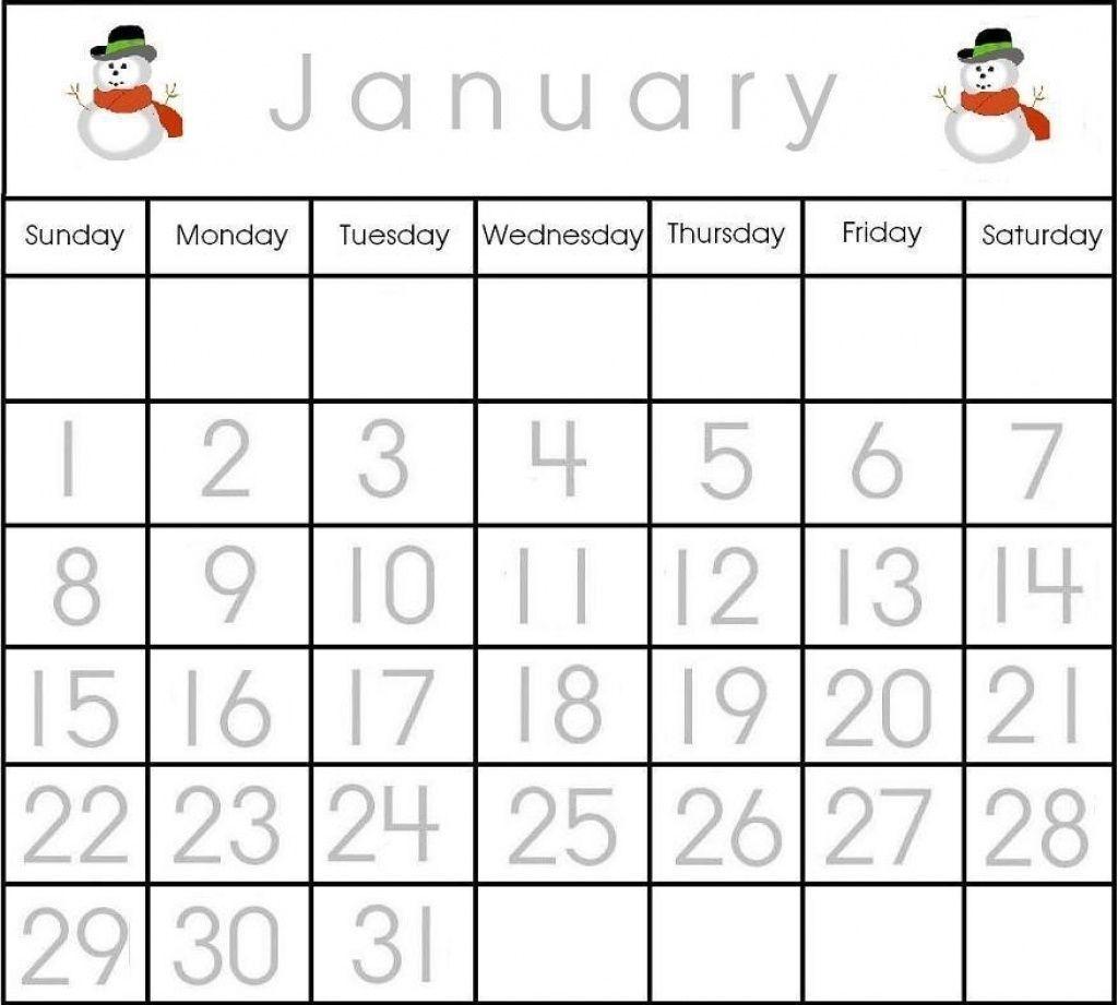 The Printable Calendar Numbers 1-31 | Get Your Calendar
