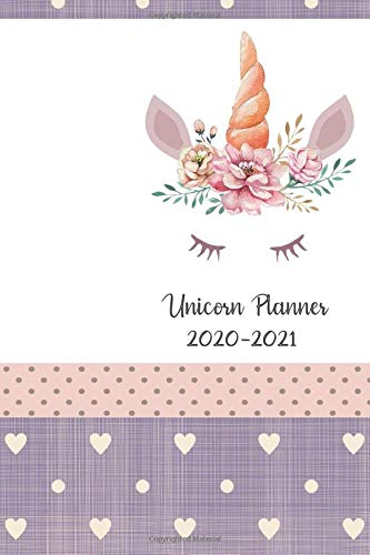 Unicorn Planner 2020-2021: Daily Weekly And Monthly