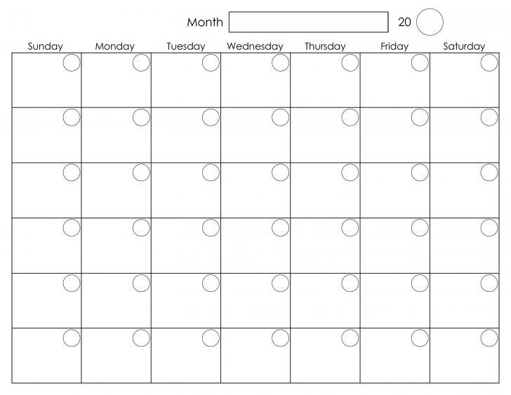 Unique Printable Calendar With Large Boxes - Calendar 2021