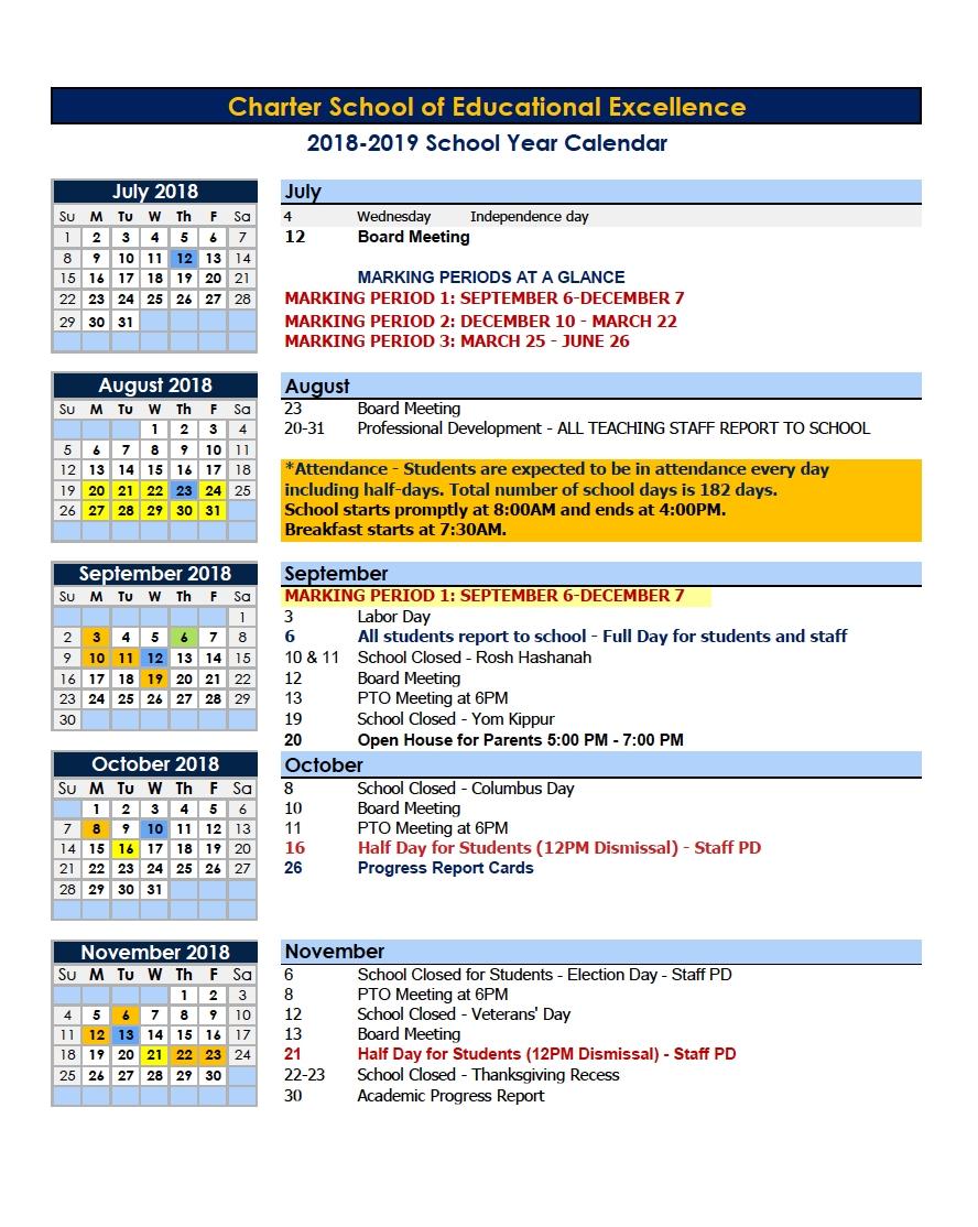 Year Calendar With Events | Calendar Printables Free Templates