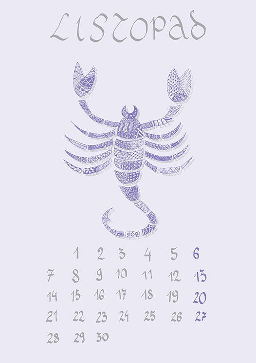 Zodiac Signs Calendar (2016) On Behance